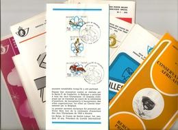 BELG.1976 Année Complète Sur Folders FR (22) Timbres Avec Oblitéré Premier Jour - FDC
