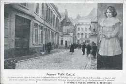 Bruxelles - Jeanne Van Calck Dont Le Cadavre Dépecé à été Découvert Rue Des Hirondelles En 1906 - Pas Circulé - Dos Non - Personnages Célèbres