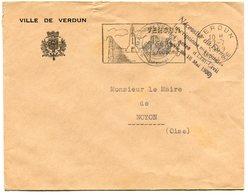 MEUSE De VERDUN    Env. à En Tête De La Mairie  Avec EMA      Du 07/07/1959 - Marcophilie (Lettres)