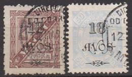 MACAO - MACAU - PORTUGAL - Colonie Portugaise - 1902 - N° 118 Et 120 - 2 Timbres Oblitérés - Macao
