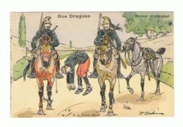 """""""Nos Dragons """" - Retour Triomphal - Humour - Illustrateur Ernest Thélem - Armée Française (fr62) - Illustratori & Fotografie"""