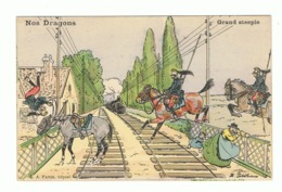 """""""Nos Dragons """" - Grand Steeple - Humour - Illustrateur Ernest Thélem - Armée Française (fr62) - Illustrators & Photographers"""