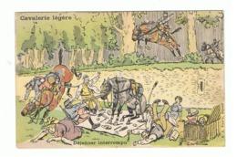 """""""Cavalerie Légère """" - Déjeuner Interrompu - Humour - Illustrateur Ernest Thélem - Armée Française (fr62) - Illustratori & Fotografie"""