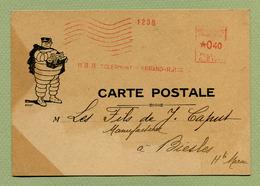 "EMA : CLERMONT-FERRAND R.P.  "" MICHELIN ""  (1935) - Marcophilie (Lettres)"