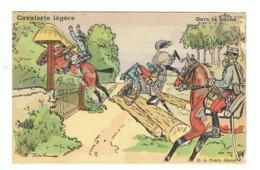 """""""Cavalerie Légère """" - Gare à La Bûche - Humour - Illustrateur Ernest Thélem - Armée Française (fr62) - Illustrateurs & Photographes"""