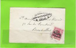 Brief Met BZ 3 - Afstempeling COMBLAIN-AU-PONT - Oorlog 14-18