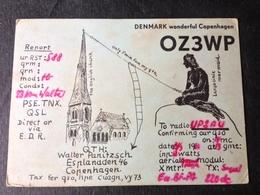 Denmark  Amateur Radio Station Card   1963 - Dinamarca