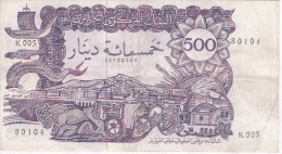 BILLETE DE ARGELIA DE 500 DINARS DEL AÑO 1970 (BANKNOTE) - Argelia