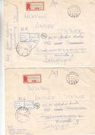 Hongrie - Lettre Recom De 1969 ° - Oblit Budapest - Exp Vers Bruxelles - Football - Escrime - Hippisme - Canoë - Lutte - Zomer 1968: Mexico-City
