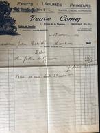 FR66 PERPIGNAN - Facture - COMES Fruits Légumes Primeurs - 1934 - 1900 – 1949