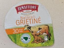 Lithuania Litauen Sour Cream 2018 Cow - Milk Tops (Milk Lids)