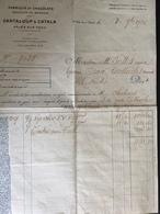 FR66 ARLES SUR TECH - Facture CANTALOUP CATALA - Fabrique De Chocolats - 1926 - 1900 – 1949