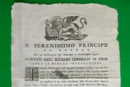 D-IT Repubblica Di Venezia 1782 Eccelso CONSIGLIO DEI DIECI - Documents Historiques