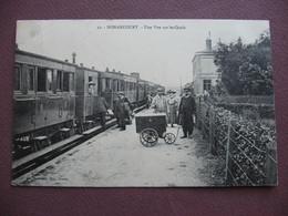 CPA 27 NONANCOURT Intérieur De La Gare TRAIN EN GROS PLAN TOP ANIMEE METIERS SNCF CHEMINOT Canton VERNEUIL SUR AVRE - Other Municipalities
