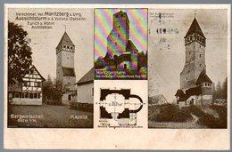 Alte Postkarte,Bayern,MORITZBERG,Aussichtsturm,Bergwirtschaft,Lauf An Der Pegnitz,Verschönerungs-Verein,gelaufen 1914 - Lauf