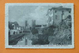 Cartolina Castelfranco Veneto - Vicolo Belvedere E Sfondo Del Castello - 1917 - Treviso