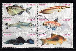 Brazilie 1988 Mi Nr 2276 - 2281, Zoetwatervis, Fish, Blok - Brazil