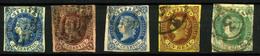 3222-España Nº 57/9, 61/2 - 1850-68 Kingdom: Isabella II
