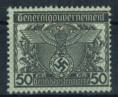 Deutsches Reich Vignette Generalgouvernement 50 Gr. Gerichtskostenmarke Postfr. - Briefmarken