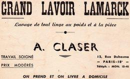 GRAND LAVOIR LAMARCK - 12 Rue Duhesme - PARIS 18E - Vloeipapier