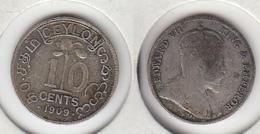 Ceylan 10 Cents 1909 Ceylon - Kolonien