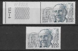 France Variété1982 - Robert Debré - Y&T N° 2228/2228a** Neuf Luxe Gomme Normal + Tropicale Cote Dallay 2281/2281a 45.90€ - Variétés: 1980-89 Neufs