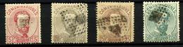 3216-España Nº 118, 123/4, 126 - 1872-73 Kingdom: Amadeo I