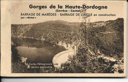 BARRAGE De MAREGES / L'AIGLE En Construction (Corrèze)  Carnet De 12 Cartes Postales - Autres Communes