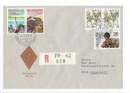 20143 - Militaire Feldpost Enveloppe R 010 FP 42 Pour Appenzell 16.09.1991 - Suisse