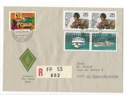 20146- Militaire Feldpost Enveloppe R 802 FP 53 Pour La Chaux-de-Fonds 29.10.1990 - Suisse