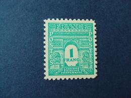 "1944- ARC TRIOMPHE 1ère Série,    Timbre Neuf N°  624    ""  1f    ""   Côte  0.15         Net   0.05 - 1944-45 Arc De Triomphe"