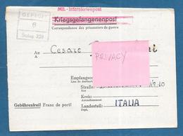 1944 PRIGIONIERI DI GUERRA MIL.-INTERNIERTENPOST LAGER PRISONER OF WAR ROMA TO DEUTSCHLAND LEMBERG - Documenti
