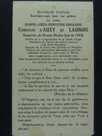 Jeanne Comtesse D'Auxy De Launois Douairière Nicolas-Jean De Cock Rameignies 1854 Ath 1935 - Devotion Images