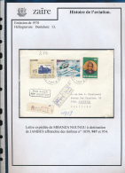 CONGO KINSHASA ZAIRE 1978 ISSUE REGISTERED COVER FROM THYSVILLE 1 TO JAMBE - Zaïre