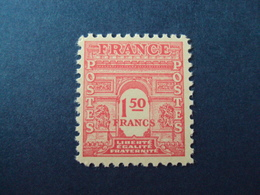 "1944- ARC TRIOMPHE 1ère Série,    Timbre Neuf N°  625  ""   1.50f   ""   Côte    0.15   Net     0.05 - 1944-45 Arc De Triomphe"