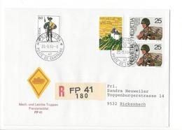 20148- Militaire Feldpost Enveloppe R 180 FP 41 Pour Rickenbach 20.09.1990 - Suisse