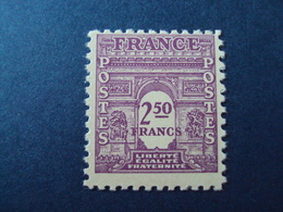"1944- ARC TRIOMPHE 1ère Série,    Timbre Neuf N°   626    ""   2.50f   ""   Côte 0.15      Net  0.05 - 1944-45 Arc De Triomphe"