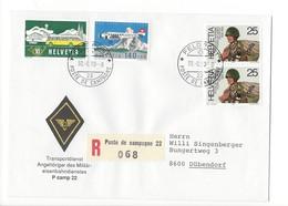 20149- Militaire Feldpost Enveloppe R 068 P Camp 22 Pour Dübendorf 30.08.1990 - Suisse