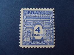 "1944- ARC TRIOMPHE 1ère Série,    Timbre Neuf N° 627       "" 4f    ""   Côte  0.15     Net    0.05 - 1944-45 Arc De Triomphe"