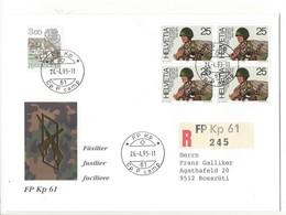 20141- Militaire Feldpost Enveloppe R 245 FP Kp 61 Pour Rossrüti 24.04.1995 - Suisse