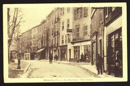 D 83 - BRIGNOLES - Rue République - Place Caramy - Ed. Vve Fabre - Brignoles