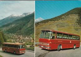 CPM   Suisse Publicité   Auto Reisen BVZ Service Des Automobiles - Bus & Autocars