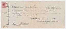 Em. 1872 Amersfoort - Amerongen - Kwitantie - Periodo 1891 – 1948 (Wilhelmina)