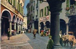 SVIZZERA-LUGANO-VIA PESSINA NON  VIAGGIATA-1916 - TI Ticino