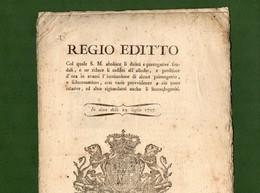 D-IT Regno Di Sardegna 1797 Abolizione DIRITTI FEUDALI E PRIMOGENITURA - Documents Historiques