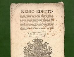 D-IT Regno Di Sardegna 1797 Abolizione Dei DIRITTI FEUDALI - Documents Historiques