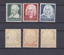 GERMAN REICH 1935 Shutz-Bach-Handel Mint * 546-458 (Mi.573-575) - Germany