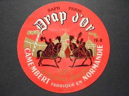76013 - étiquette De Fromage - CAMEMBERT DRAP D'OR - Fromagerie SAFR à LE THIL CANEHAN 76D (Seine Maritime) - Formaggio