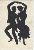 CPA Silhouette Découpage Montage Non Circulé Cartes Animées Lambert Danse Système - Silueta