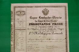 D-IT R.Lombardo Veneto 1840 PASSAPORTO Ferdinando Primo D'Austria Da Udine A Villach REISEPASS - Documents Historiques